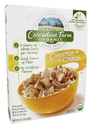 DROPPED: Cascadian Farm - Organic Cereal Cinnamon Crunch - 9.2 oz.