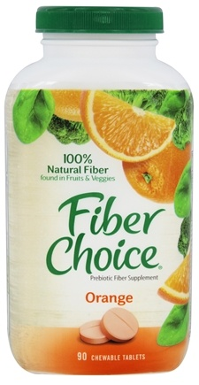 DROPPED: Fiber Choice - Chews Orange - 90 Chewable Tablets