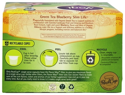 Green Tea Slim Life Recyclable K-Cups