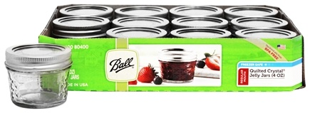 ball 4 oz mason jars. ball - regular mouth 4 oz. quilted crystal jelly mason jars freezer safe 12 oz o