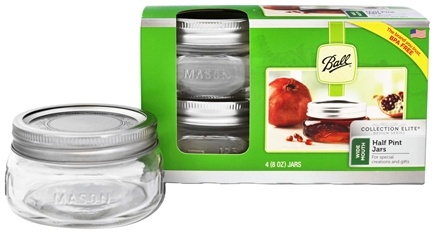 ball 4 oz mason jars. ball - wide mouth 8 oz. half pint mason jars elite collection design series 4 oz t