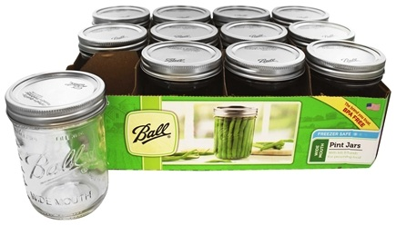 ball 16 oz mason jars. ball - wide mouth 16 oz. pint mason jars freezer safe 12 count oz
