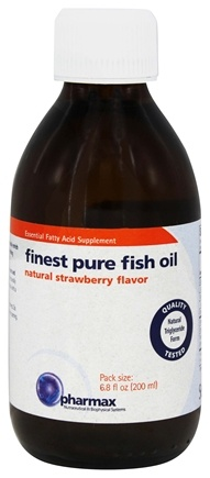 Buy pharmax finest pure fish oil natural strawberry for Pharmax fish oil