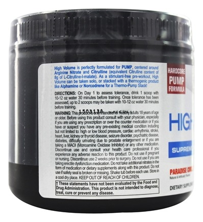 High Volume Supreme Nitric Oxide Matrix Paradise Cooler 36 Scoops - 8 9 oz   by