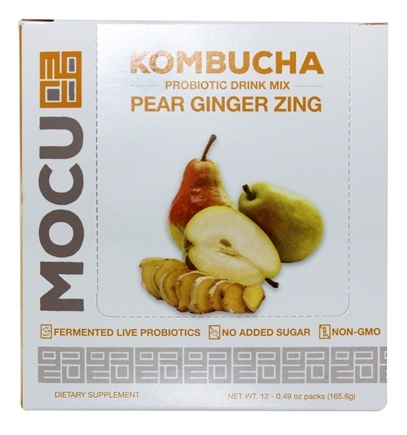 DROPPED: TracHealth - Kombucha Probiotic Drink Mix Pear Ginger Zing - 12 Pack(s)