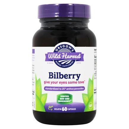 Oregon's Wild Harvest - Bilberry - 60 Vegetarian Capsules