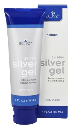 Activz  Ppm Natural Healing Silver Skin Care Gel
