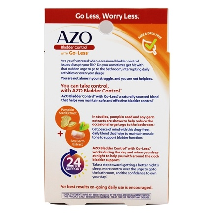 Azo Bladder Control >> Bladder Control With Go Less 54 Capsules By