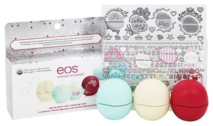 Eos Evolution of Smooth - Decorative Lip Balm Collection - 3 Pack Limited Edition