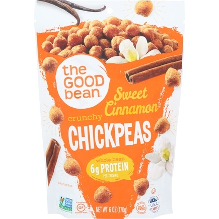 DROPPED: The Good Bean - All Natural Chickpea Snack Sweet Cinnamon - 6 oz.