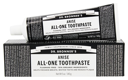 Buy Dr. Bronners - All-One Toothpaste Fluoride Free Anise - 5 oz. at  LuckyVitamin.com