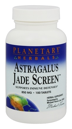 DROPPED: Planetary Herbals - Astragalus Jade Screen 850 mg. - 100 Tablets