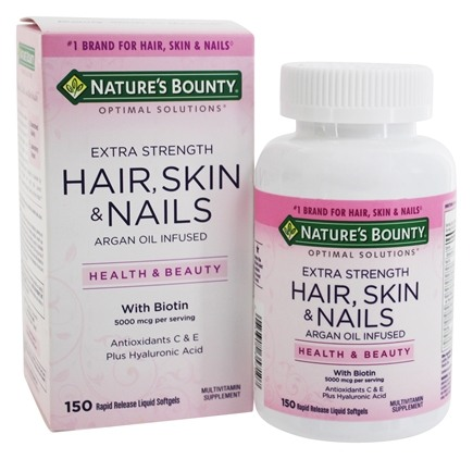 Buy Nature\'s Bounty - Optimal Solutions Extra Strength Hair, Skin ...