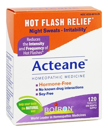 Boiron - Acteane for Hot Flashes - 120 Tablets