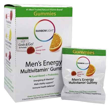 Buy Rainbow Light Men S Energy Multivitamin Gummy Orange