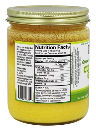 Grassfed Organic Ghee  Oz By Pure Indian Foods
