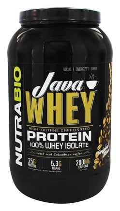 NutraBio - Java 100% Whey Protein Isolate - 2 lbs.