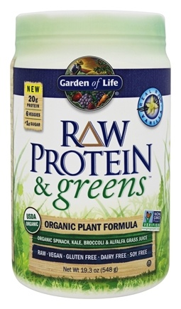 Buy Garden Of Life Raw Protein Greens Organic Plant Formula Real Raw Vanilla 19 3 Oz At