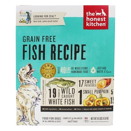 Buy The Honest Kitchen Zeal Epicurean Grain Free Dog Food Wild Caught Fish 10 Lbs At