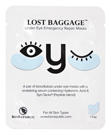 BioRepublic SkinCare - Lost Baggage Eye Emergency Repair Masks - 1 Pair