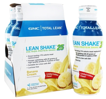 Dropped Gnc Total Lean Shake 25 Banana Cream 4 Pack