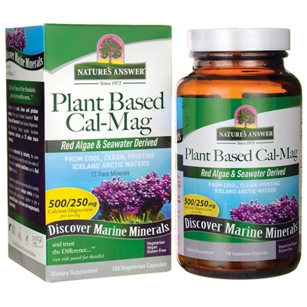 Nature's Answer - Plant-Based Cal-Mag - 120 Vegetarian Capsules
