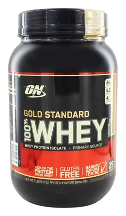 Buy Optimum Nutrition 100 Whey Gold Standard Protein Isolates Chocolate Dipped Banana 2 Lbs At Luckyvitamin Com