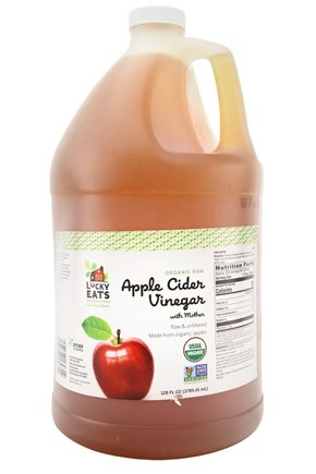 LuckyEats - Organic Raw Apple Cider Vinegar with Mother by LuckyVitamin - 128 oz.