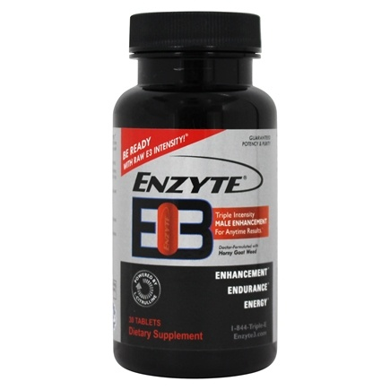 Enzyte - E3 Triple Intensity Male Enhancement - 30 Tablets