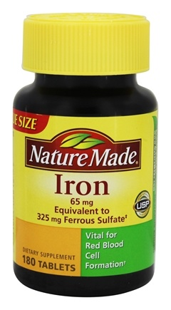 Nature Made - Iron 65 mg. - 180 Tablets