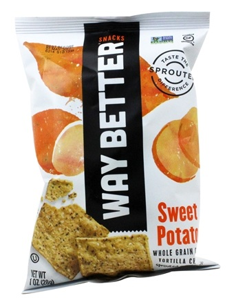Way Better Snacks - Whole Grain Corn Tortilla Chips Sweet Potato - 1 oz.
