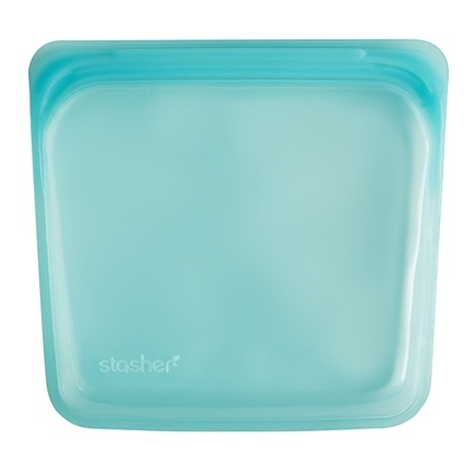 buy stasher reusable silicone sandwich storage bag aqua 15 oz at. Black Bedroom Furniture Sets. Home Design Ideas