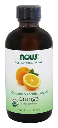 NOW Foods - 100% Pure Organic Essential Oil Orange - 4 oz.