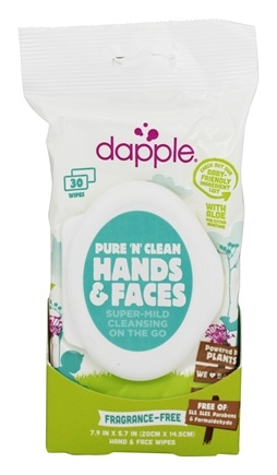Dapple - Pure and Clean Hands and Faces Wipes Fragrance Free - 30 Wipe(s)