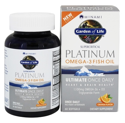 Garden of Life - Minami Platinum Omega-3 Fish Oil Plus D3 Orange 1100 mg. - 60 Softgels