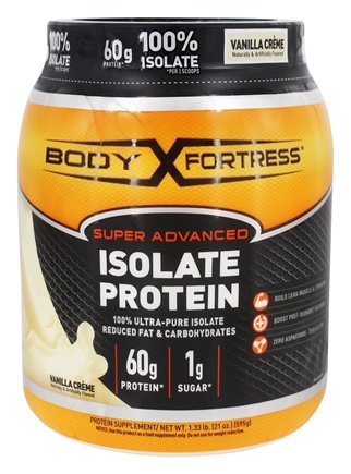 Body Fortress - Super Advanced Isolate Protein Vanilla Creme - 1.33 lb.