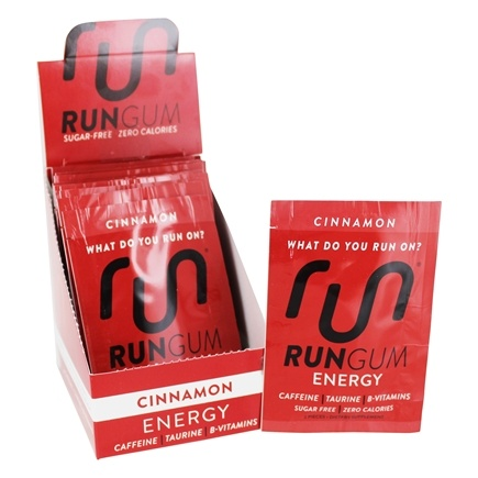 Run Gum - Performance Energy Gum Cinnamon - 12 Packet(s)