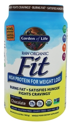 garden of life weight loss. Garden Of Life - Raw Organic Fit High Protein For Weight Loss Chocolate 32.5 Oz