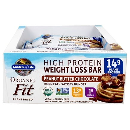 Buy Garden Of Life Organic Fit High Protein Weight Loss Bars Peanut Butter Chocolate 12 Bars