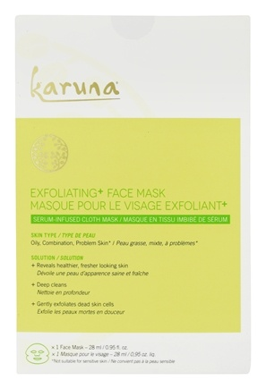 Exfoliating Face Sheet Mask - 1 Count by Karuna (pack of 3) amarte eyeconic eye cream, 0.7 ounce