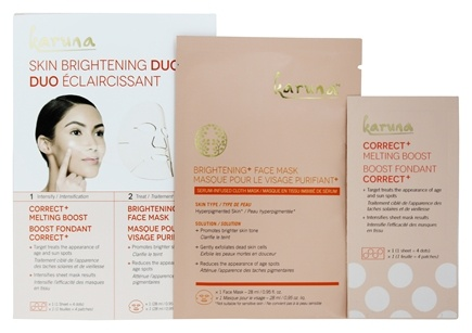 Skin Clarifying Duo Acne + Pore Boost & Face Sheet Mask - 2 Count by Karuna (pack of 4) Derm Repair Restructuring Serum 1oz