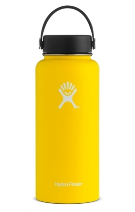 Stainless Steel Water Bottle Vacuum Insulated Wide Mouth with Flex Cap  Lemon - 32 oz  by Hydro Flask