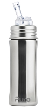 DROPPED: Pura - Stainless Steel Straw Bottle Natural Mirror - 11 oz.