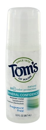 Tom's of Maine - Natural Mineral Confidence Deodorant Crystal Roll-On Fragrance Free - 3 fl. oz.