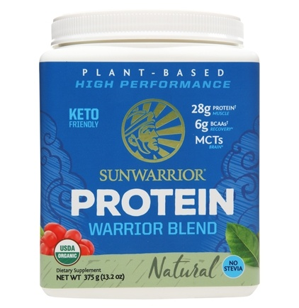 Sunwarrior - Warrior Blend Plant-Based Organic High Performance Protein Powder Natural - 375 Grams