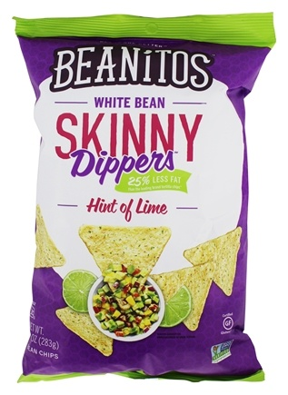 DROPPED: Beanitos - White Bean Skinny Dippers Chips Hint of Lime - 10 oz.