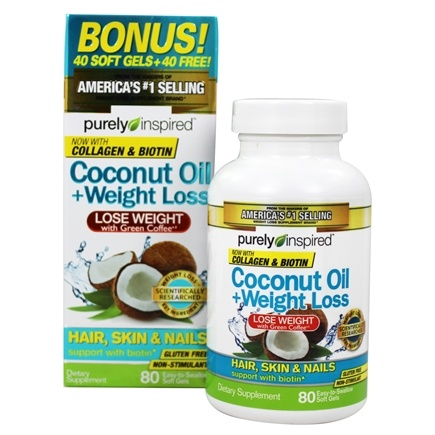 DROPPED: Purely Inspired - Coconut Oil + Weight Loss - 80 Softgels