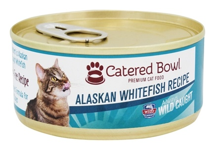 DROPPED: Catered Bowl - Wild Caught Premium Cat Food Alaskan Whitefish Recipe - 5.5 oz.