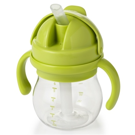 DROPPED: OXO - Tot Transitions Straw Cup With Removable Handles 4 Months+ Green - 6 oz.