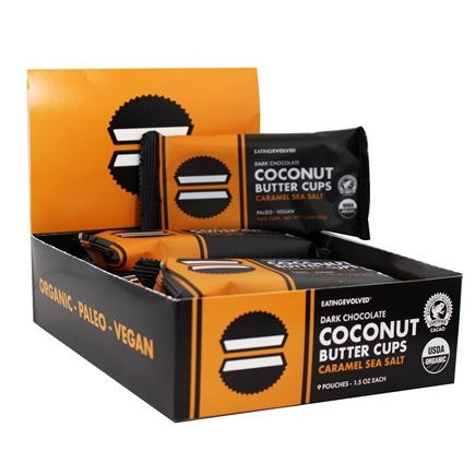 Evolved - Coconut Butter Cups Dark Chocolate Caramel & Sea Salt - 9 Pack(s)